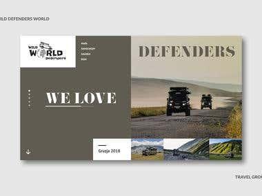 Web Design - Defender travel group