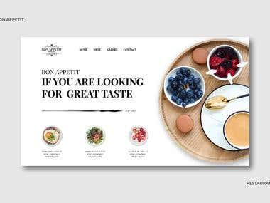 Web Design - Restaurant