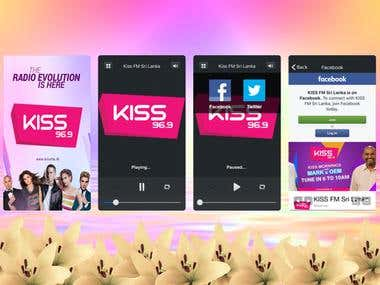 Kiss-FM ios audio station app