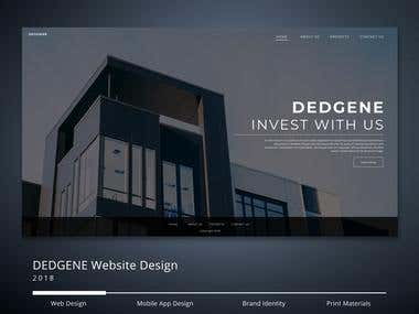 DEDGENE Investments Website Concept