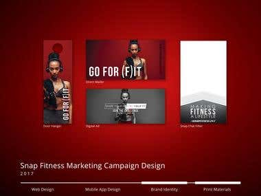 Snap Fitness Campaign Materials