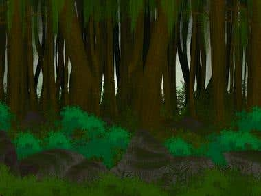 Background design for animated project