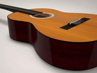 Classical guitar model