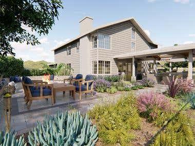 Hardscape Backyard Makeover / Laguna Niguel, California