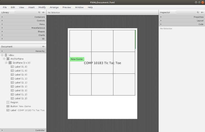 JavaFXML Tic Tac Toe GUI and AI Player Engine using Netbeans
