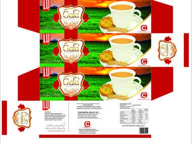 A biscuit packing designed