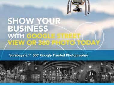 a A5 Brochure for a Virtual Tour Company