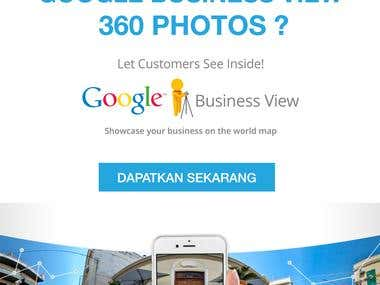 Brochure for 360 Photo service