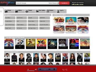 Home Page Of GaanaWorld