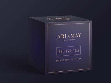 Ari & May tea packaging