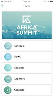 Warwick Africa Summit (Mobile App - Cordova)