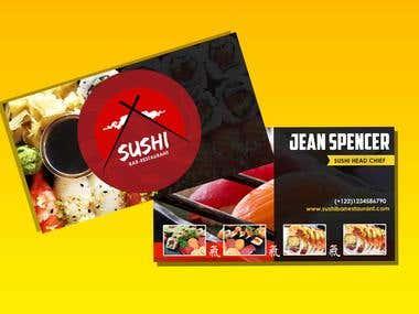 Presentation card - Sushi bar
