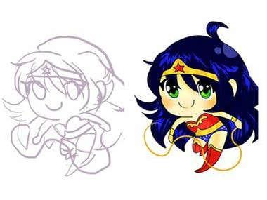 Wonder Woman Design chibi