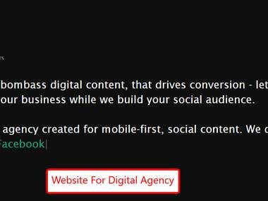 Website for Digital Agency