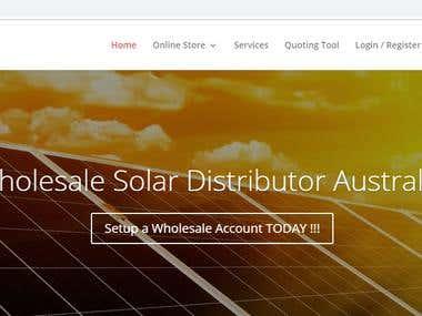 Wordpress+shopify website for solar panel selling.