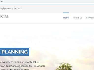 WordPress website for Australia based finance firm.