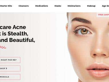 Skincare website design |developed in Woo commerce