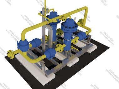 3D Model for oil and gas industry