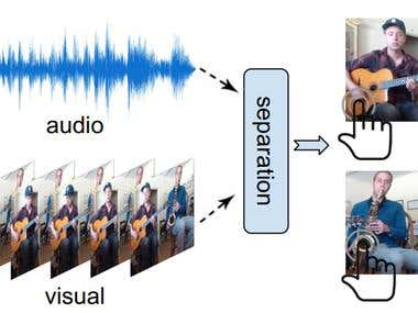 Separate Object Sounds by Machine Learning。