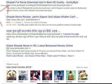 Keyword ranking on Google using latest trends