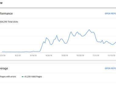 Website Performance report- Google search console