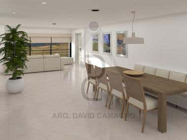 KITCHEN, DINING, LIVING - 3D Modeling & CAD