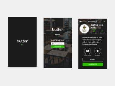 App Design for Butler - Cafe Review Platform