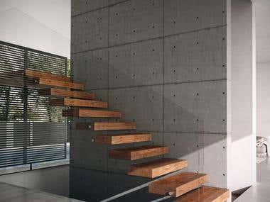 Minimalist architecture render