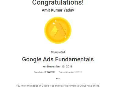 Google Ads Fundamentals Certification 2019