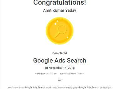 Google Ads Search Certification 2019
