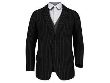 3D modeling rendering of shirt and suit using 3ds max
