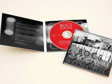 Digipak CD Cover & Disc Surface Design