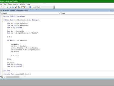 Access Event Codes (VBA)