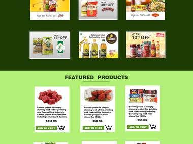 TEMPLATE FOR GROCERIES WEBSITE