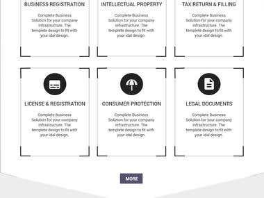 Law Firm Website Mockup