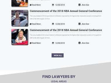 Website MockUp for a Legal Startup