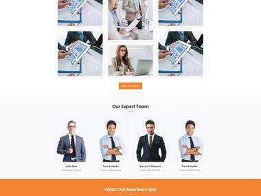 Digital agency Website UI
