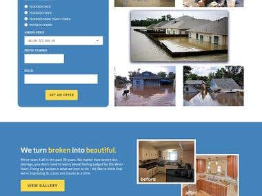 Flooded House Buying Website
