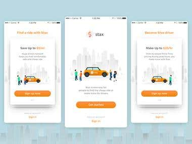Mobile Application On boarding Taxi Application Development