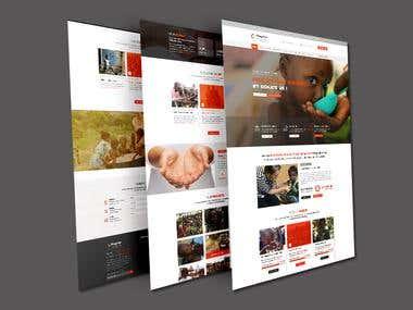 Website Wireframes (Mockup) PSD Design