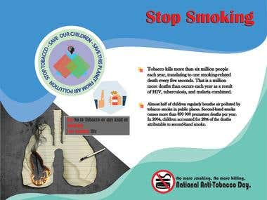 Custom Brochure for National Anti-Smoking campaign