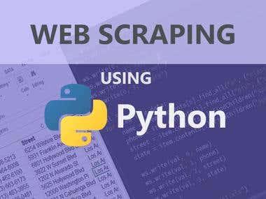Web Scraping   Data Analysis   Data Mining using Python