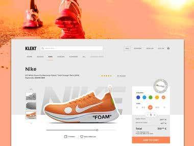 Klekt Website