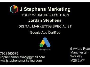 J Stephens Business Card