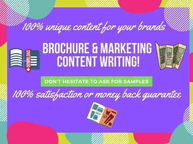 Brochure and Marketing