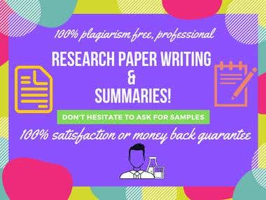 Research Papers and Technical Paper Summaries