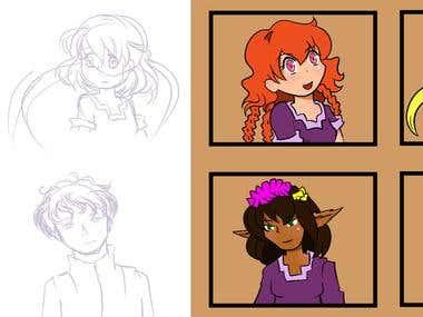 Comic Book Character Illustrations