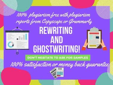 Ghostwriting and Rewriting