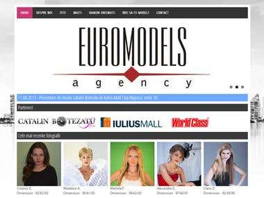 Euromodels Agency website