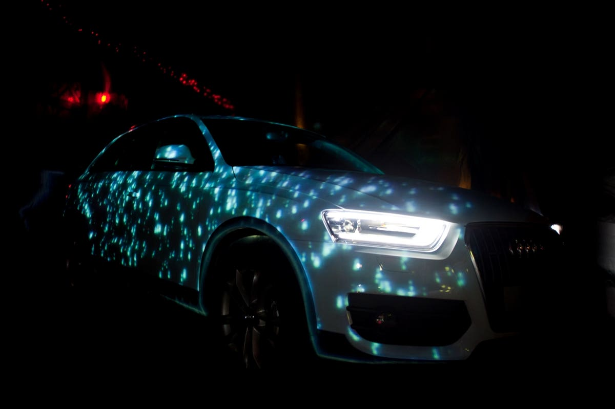 3D Mapping projection - Audi Q3